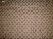 Gucci Fabric No.1(Classical Gucci fabric tan and brown)
