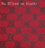 Gucci Fabric No.37 (black on red)